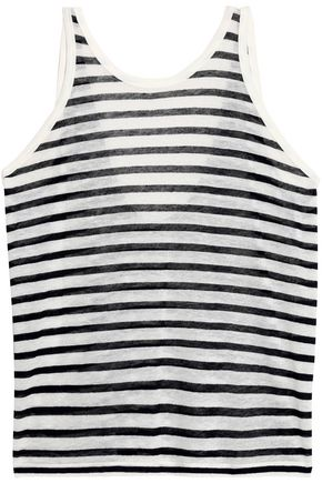T by ALEXANDER WANG Striped slub jersey tank