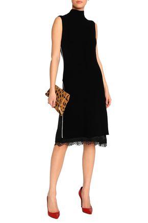 ALICE + OLIVIA Wool-blend turtleneck dress