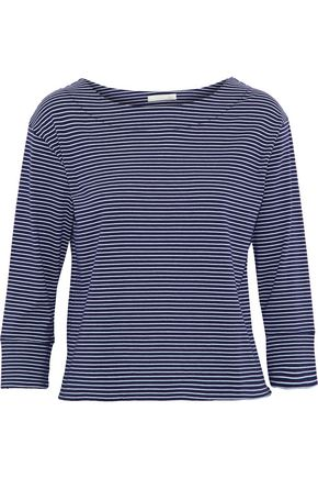 SKIN Striped modal and cotton-blend jersey top