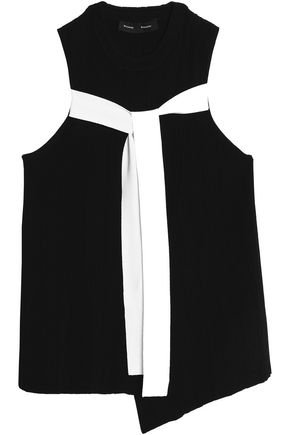 PROENZA SCHOULER Asymmetric draped stretch-knit wrap top