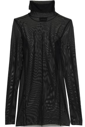 BY MALENE BIRGER Stretch-mesh turtleneck top