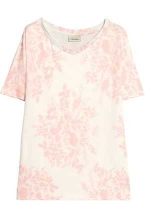 BY MALENE BIRGER Printed stretch-jersey T-shirt