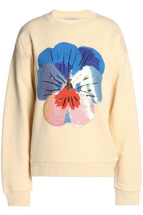 CHRISTOPHER KANE Sequin-embellished cotton-blend terry sweatshirt