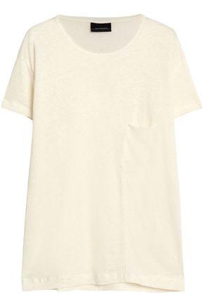 BY MALENE BIRGER Mélange linen-jersey T-shirt
