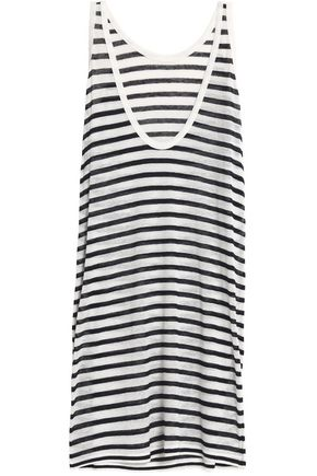 T by ALEXANDER WANG Striped slub jersey mini dress