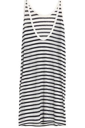 T by ALEXANDER WANG Striped slub jersey mini dress