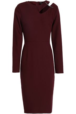 RAOUL Cutout embellished crepe dress