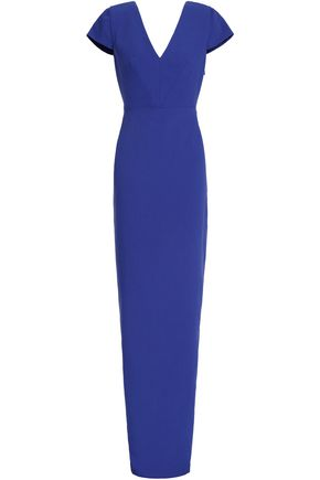 RAOUL Gathered bow-embellished crepe gown