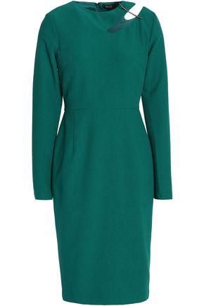 RAOUL Cutout embellished crepe dress