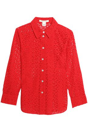 MARC JACOBS Broderie anglaise cotton shirt