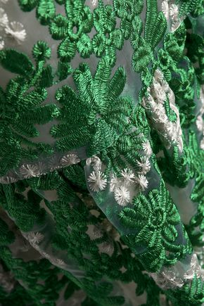 RAOUL Embroidered organza mini dress