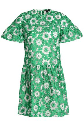 RAOUL Embroidered organza mini dress