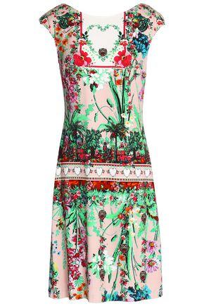CLASS ROBERTO CAVALLI Printed crepe dress