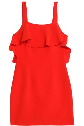 RACHEL ZOE Ruffled crepe mini dress