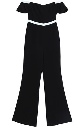 RACHEL ZOE Off-the-shoulder ruffled crepe jumpsuit
