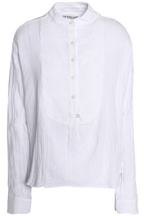 DEREK LAM 10 CROSBY Cotton-gauze shirt