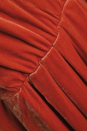 BY MALENE BIRGER Wrap-effect gathered velvet gown