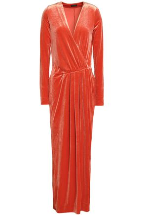 BY MALENE BIRGER Wrap-effect gathered velvet gown