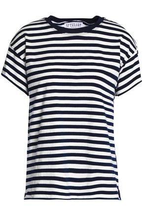 DEREK LAM 10 CROSBY Striped cotton-jersey T-shirt