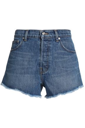 DEREK LAM 10 CROSBY Frayed denim shorts