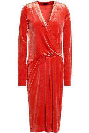 BY MALENE BIRGER Gathered crushed velvet dress