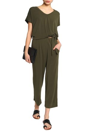 BY MALENE BIRGER Cropped knotted crepe jumpsuit