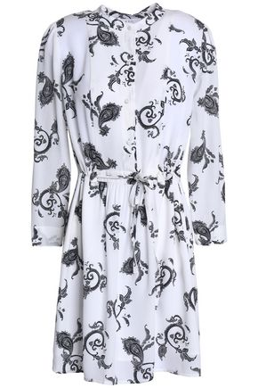 A.L.C. Printed silk-crepe mini dress