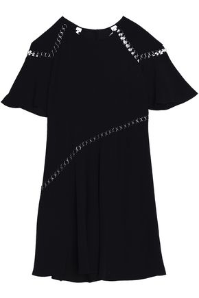 A.L.C. Ring-embellished crepe dress