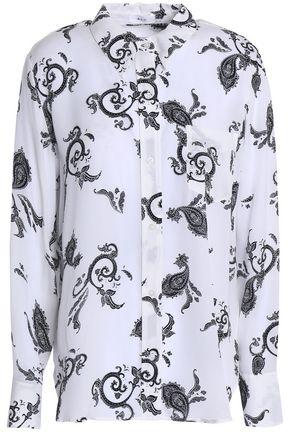 A.L.C. Printed silk-crepe top