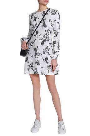 View Sale Online Outlet Low Shipping Fee A.l.c. Woman Button-detailed Printed Wool-blend Mini Dress White Size 2 A.L.C. EC9U6s8