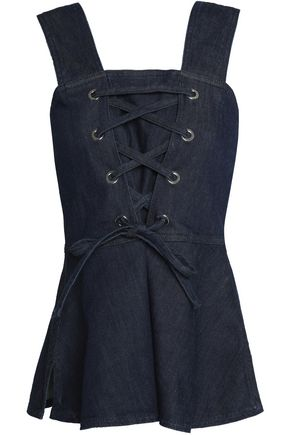 SEE BY CHLOÉ Lace-up denim top