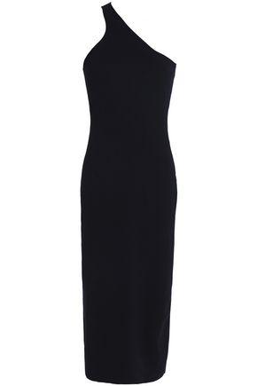 A.L.C. One-shoulder cotton-blend jersey midi dress