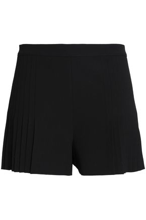 ALICE + OLIVIA Graham pleated crepe shorts