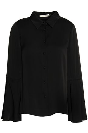 ALICE + OLIVIA Myrtle stretch-silk shirt
