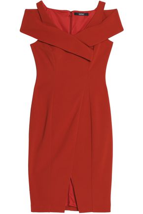 BADGLEY MISCHKA Cutout stretch-ponte dress