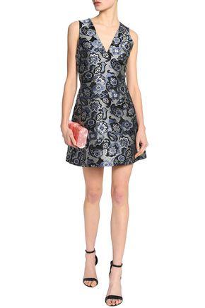 ALICE + OLIVIA Flared brocade mini dress