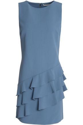ALICE+OLIVIA Ruffle-trimmed crepe mini dress