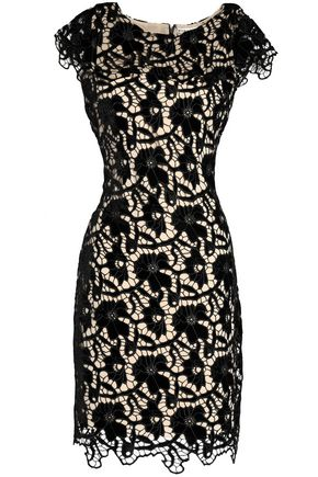 ALICE + OLIVIA JEANS Clover guipure lace dress