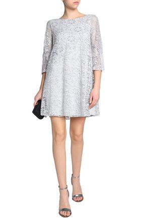 BADGLEY MISCHKA Metallic lace mini dress