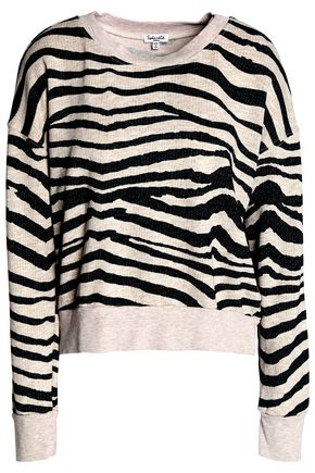 SPLENDID Printed cotton-terry sweatshirt