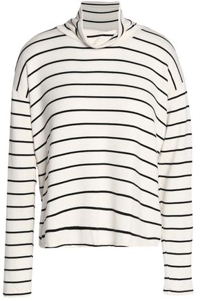 SPLENDID Striped stretch-modal turtleneck top