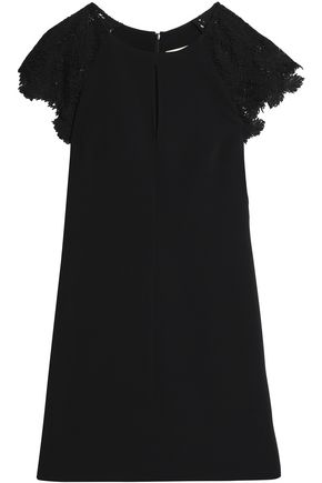 EMILIO PUCCI Guipure lace-paneled crepe mini dress