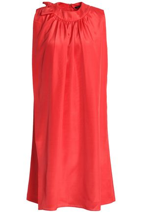 RAOUL Fluted silk-chiffon dress