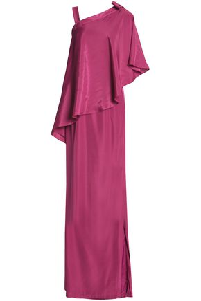 RAOUL Asymmetric layered satin gown