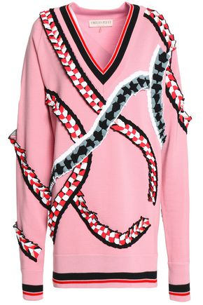 EMILIO PUCCI Oversized ruffle-trimmed merino wool sweater