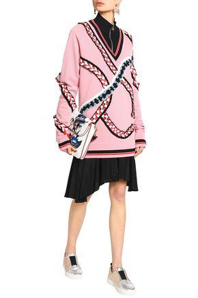 EMILIO PUCCI Oversized ruffle-trimmed merino wool sweater