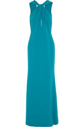 SACHIN & BABI Kajol twist-front crepe gown