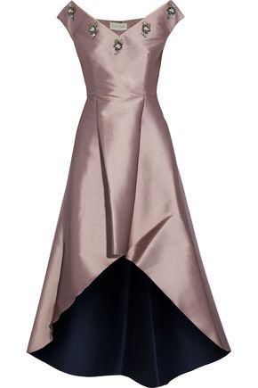 SACHIN & BABI Alexandra embellished duchesse satin-twill dress