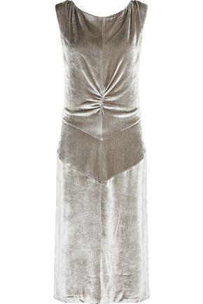 NINA RICCI Ruched velvet dress