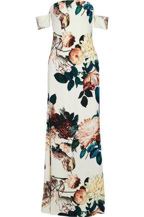 SACHIN & BABI Sahni off-the-shoulder floral-print crepe gown
